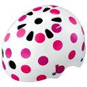 【140】bikke ジュニアヘルメット ドット(ピンク) CHBH5157-WP1 P5792 ブリヂストン お取り寄せ【キャッシュレス5%還元対象】