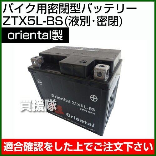 Oriental バイク用密閉型 バッテリー Z...の商品画像