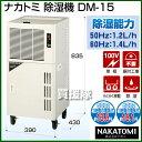 ナカトミ 除湿機 DM-15(キャスター付除湿器、満水停止)【おしゃれ おすすめ】 [CB99]