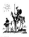 【送料無料】絵画■パブロピカソ■ドン・キホーテ, 1955■選べる額縁■額装込■名画■ポスター■複製画■インテリアアート■プレゼント贈答品におすすめ