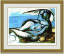 【送料無料】絵画■パブロピカソ■Reclining Nude at Beach■選べる額縁■額装込■インテリアアート■プレゼント贈答品におすすめ