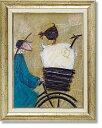 美術, 美術品, 古董, 民間工藝品 - サムトフト・ニワトリとにらめっこ(絵画・アート)