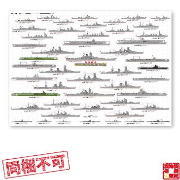【同梱不可】軍艦大全 大日本帝国海軍 A1耐水紙ポスター 841×594mm 1本