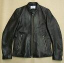 【中古】STUDIOUS ステュディオス シングルライダースジャケット ラムレザー 107352001 ブラック 羊革 サイズ:1【橿原店】【H】