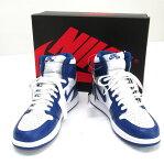 NIKE ナイキ AIR JORDAN 1 RETRO HIGH OG エアジョーダン 1 レトロ ハイ OG 品番:555088-127/サイズ:28/カラー:ブルー×ホワイト/STORM BLUE/スニーカー/靴 シューズ