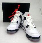 NIKE AIR JORDAN 4 RETRO CEMENT GREY/ナイキ エア ジョーダン フォー レトロ セメント グレイ/308497-103/28.5cm/色:白・黒・灰/復刻/2011年製/スニーカー/未使用品/ローカット/メッシュ/靴/シューズ