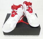 NIKE AIR JORDAN 6 RETRO / ナイキ エアジョーダン 6 レトロ 品番:384664-113/28.5cm/WHITE/GYM RED-PURE PLATINUM/白×赤/オルタネイト/ストリート/スケーター/バッシュ/靴 シューズ