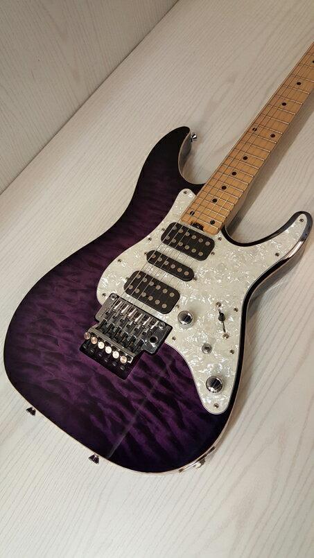 【】【エレキ ギター】SCHECTER/SD-DX-24-AS PRSB M/シェクター/デラックス/パープル 【紫色系】人気/定番【弦 楽器/本体】桜井店【大型180サイズ】 『SD-II』をさらにパワーアップさせた『SD-DX』シリーズ暑い