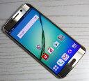 【中古】【美品】docomo Samsung Galaxy S6 edge SC-04G Gold Platinum 【○残債なし】【白ロム】【ケータイ】【スマホ】【家電】[163]【福山店】