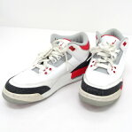 NIKE AIR JORDAN 3 RETRO(GS)/ナイキ エアジョーダン3 レトロ/品番:398614-120/25cm/白×黒×赤/靴 シューズ/スニーカー
