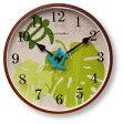 ○o。ホヌ×モンステラ ハワイアン掛け時計 ヘンプダイヤルクロック【グリーン】【ハワイアンインテリア】【ハワイアン雑貨】お祝い 結婚祝い。o○