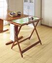 必要な時にサイドテーブル収納時6,2cm折りたたみ式テーブル・「折りたたみ式キッチンテーブル大」