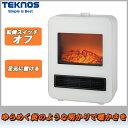 テクノス セラミックファンヒーター ホワイト TD-S1200【暖房器具 コンパクト 足元】
