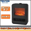 テクノス セラミックファンヒーター ブラック TD-S1201【暖房器具 足元】
