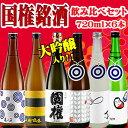 日本酒 飲み比べセット 国権銘酒飲み比べ6本セット 720ml×6本