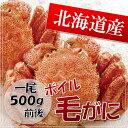 【北海道産】毛蟹500g前後 ボイル急速冷凍【RCP】【10P26Mar16】