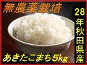 【新米】【送料無料】【無農薬】【28年産】【秋田県産】安心で美味しいあきたこまち5kg