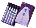 日本香堂 青雲バイオレット 短寸中把10入 24902 日本の定番 煙が少ないお線香