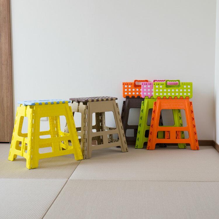 【送料無料】踏み台 クラフタースツール L BLC-312【ふみ台 スツール 折り畳み 椅…...:kaiteki-homes:10083492