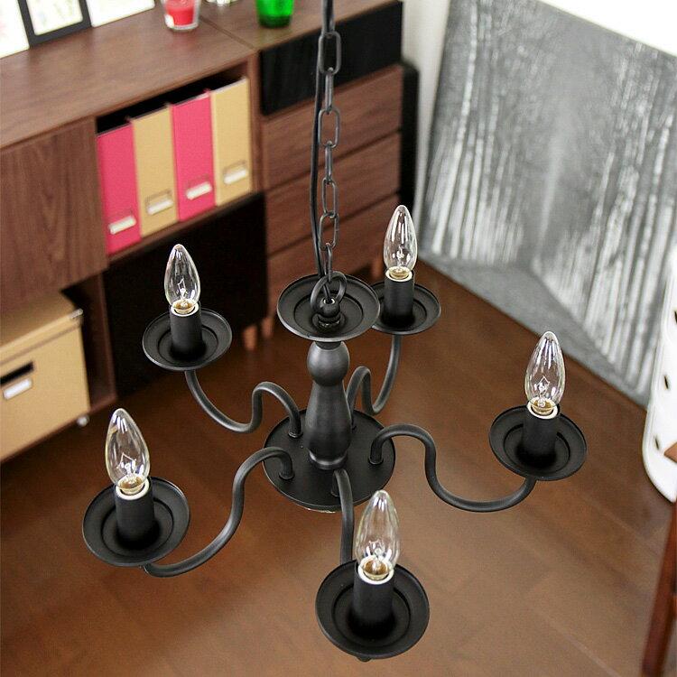 【送料無料】照明 LED 対応 5灯 シャンデリア バトラー【ライト LED電球 インテリ…...:kaiteki-homes:10091962