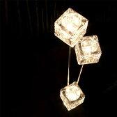 照明 フロアスタンド ハロゲンフロアランプ 3灯 スターキューブ ガラスキューブ【ライト フロアスタンドライト フロアライト 間接照明 フロア照明 照明器具 インテリア照明 寝室 スタンドライト 北欧 かわいい ガラス おしゃれ】【送料無料】【インテリア】