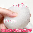 A konjac face-wash sponge (white) [sun pack] [Rakuten ranking winning prize] [product made in Japan] [face-wash] [nature] [repeatedly] [Eco] [tomorrow easy / same day delivery] [RCP] [marathon201305_daily]