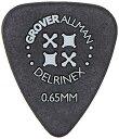 【商品名】Grover Allman 【グローバーオールマン】 Delrinex? Black ISO 0.65mm 10枚 モデル番号を入力してくださいこれが適合するか確認: 世界で3500万枚以上の販売実績を誇るGROVER ALLMANのピックです(10枚セット) プレミアムグレードのアセテートポリマーを使用、演奏中に滑らなくするためにマット塗装で仕上げています。 ISO シェイプは通常のティアドロップよりも全ての端がより鋭角に作られた特殊 な形です。 指で握りこむ面積が広いためより握りやすくピッキングが安定 し、ショルダーピッキングにも適しています。 【形状】ISOシェイプ 【厚さ】0.65mm 【色】黒
