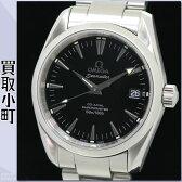 【美品】オメガ 【OMEGA】 2504.50 シーマスター アクアテラ コーアクシャル オートマティック メンズウォッチ ブラックダイアル 自動巻き 男性用腕時計 裏スケルトン 黒 2504-50 SEAMASTER AQUATERRA 150M CO-AXIAL WATCH【Aランク】【中古】