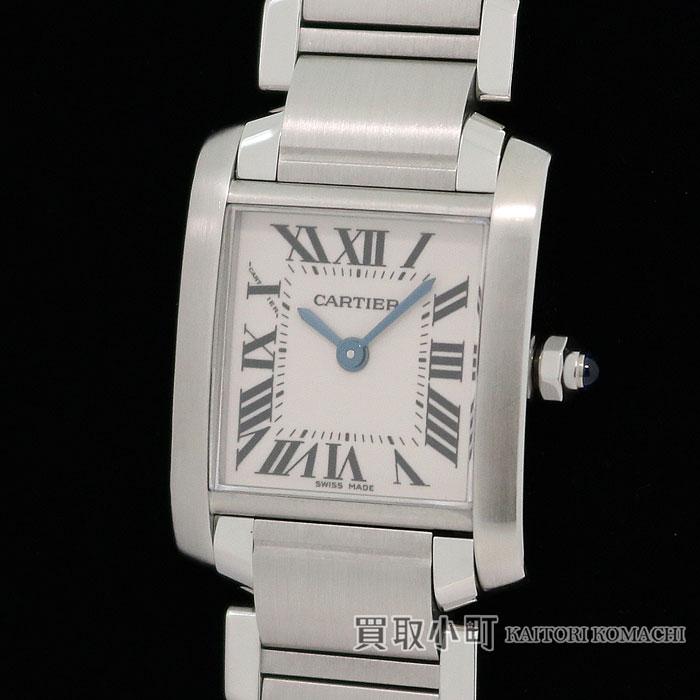 【美品】カルティエ 【CARTIER】 タンクフランセーズ SM レディースウォッチ SSブレスレット クォーツ 女性用腕時計 W51008Q3 TANK FRANCAISE WATCH SMALL MODEL SS【Aランク】【】 【送料無料】
