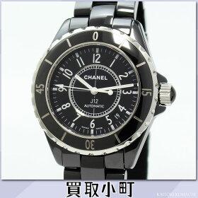 シャネル【CHANEL】J1238MMブラックセラミックオートマティックメンズウォッチブレス男性用腕時計自動巻き黒38ミリRef.H0685AUTOMATICAT%OFF【Aランク】【中古】【LuxuryBrandSelection】