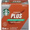 KEURIG 【キューリグ K-Cup / スターバックス プラス COFFEE WITH2X CAFFEINE ミディアムロースト ハウスブレンド / 16個入り / 196g (6.9oz)】