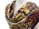 エルメス スカーフ HERMES ソルド カレ 90CMS ツイル シルク100% LA PROMENADE DE PLATON ネイビー/オレンジ/キャラメル 29102
