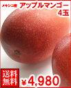 メキシコ産アップルマンゴー4玉送料無料¥4,980
