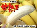 フィリピン産バナナ甘熟王5袋送料無料\3,500北海道・沖縄は別途送料¥1,000がかかります。