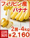 フィリピン産バナナ2房4kg送料無料2,450