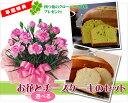 【母の日ギフト】ピンクカーネーション4号鉢と選べるチーズケーキ