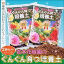 あす楽 園芸専門店が作った土です。吉本花城園のぐんぐん育つ培養土 花と野菜の土2袋合計40リットル
