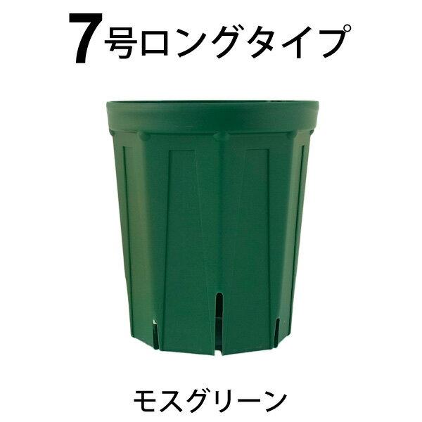 7号スリット鉢(ロングタイプ) モスグリーン 直...の商品画像
