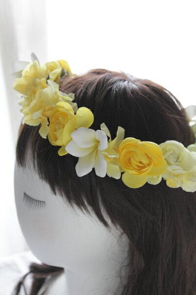 【楽ギフ_包装】【花冠】プルメリアイエロー【花冠...の商品画像