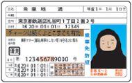 デコレーションシール IC~と(アイシート)パロディ<br>免許証