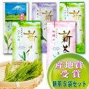日本茶 お茶『新茶5袋セット』 『大走り』100g×1袋+ 『初摘み』100g×1袋+ 『八十八夜』100g×2袋 『超新茶』×1袋