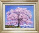 絵画 油絵 王仁塚(わにづか)の桜 (木村由記夫) 送料無料 【肉筆】【油絵】【日本の風景】【6号】