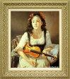 奥龍之介 絵画 バイオリンを持つ少女 F10号 送料無料