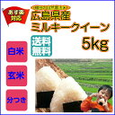 【ポイント10倍】【送料無料】広島県産ミルキークイーン5kg(青袋)玄米 棚田の自然農法米 ミルキークイーン 5kg 米 5kg 送料無料【29年産1等米】お米 5kg 送料無料 米 お米 コメ