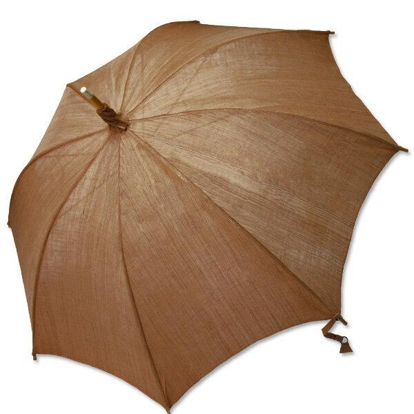 麻の日傘:柿渋染め無地(濃) 【送料無料】お気に入り