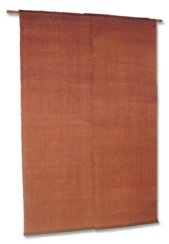本麻玉渋染暖簾(のれん) 太陽の染