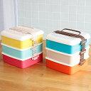 弁当箱 ランチボックス salir Familiar ピクニックランチボックス3段 Lサイズ【お重 重箱 2段 3段 大容量 お弁当箱 ガーデン パーティ …