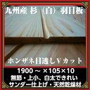 杉(白)羽目板 本実目透しV1900×105×10 /34枚 2坪 サンダー仕上 送料無料(一部地域除く)