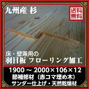 床・壁兼用 杉羽目板 九州産 本実突き付 1900×106×12/14枚(埋め木補修材)サンダー仕上 送料無料(一部地域除く)