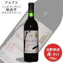 アルプス ミュゼドゥヴァン 松本平ブラッククイーン 720ml / 日本ワイン 長野県原産地呼称認定 赤ワイン